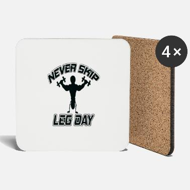Powerlifting Motivation skip leg day powerlifting bodybuilding fitness - Coasters