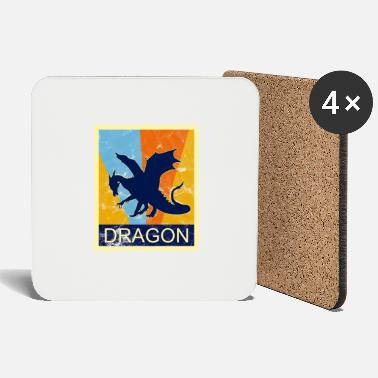 Retro Dragon Vintage Fantasy Cosplay Gift - Coasters