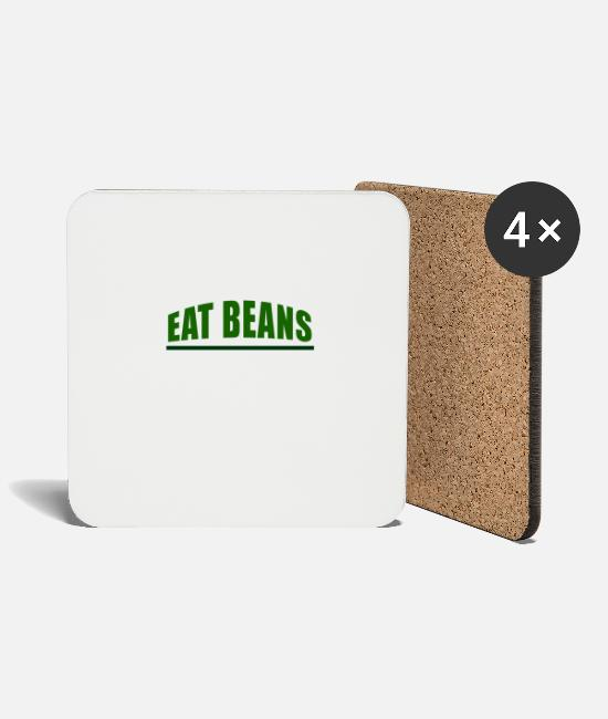 Eco Mugs & Drinkware - Eat Beans - Coasters white