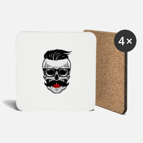 Art Mugs & Drinkware - Gift - Hipster DEADHEAD - Coasters white