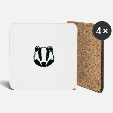 Prison Prison Badger T-Shirt Distressed Prisoner Jail - Coasters
