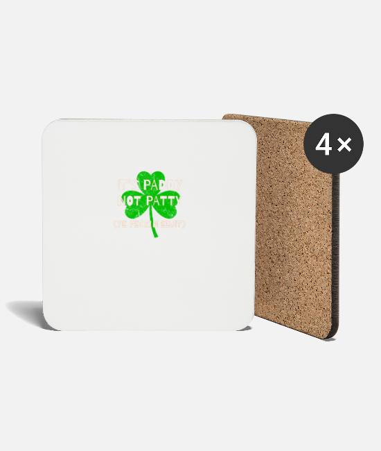 St Patricks Day Mugs & Drinkware - Feckin Eejit Distressed for St Paddy's Day - Coasters white