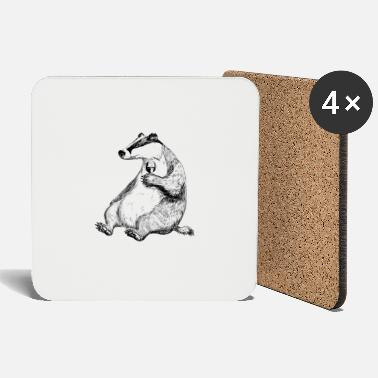Badger Badger with Wine. - Coasters