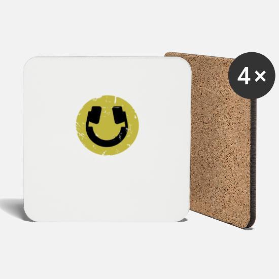 Emoji Headphones Music Musician Techno Gift Loud Coasters (set of 4) - white