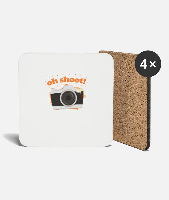 Polaroid Mugs & Drinkware - Photographer Camera Photographing Pun Gift - Coasters white