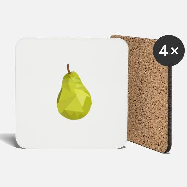 Pearl Jam Pear - Triangle Pear for Fruit Lovers - Coasters