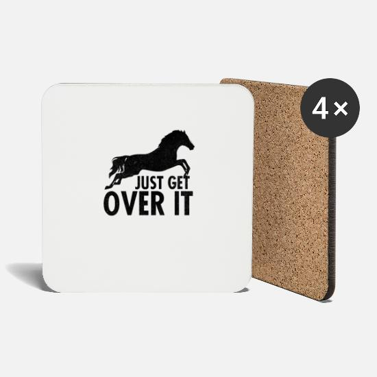Over Mugs & Drinkware - Just Get Over It - Coasters white