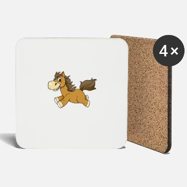 Horseman Horses pony horse rider horseman riding saddle - Coasters