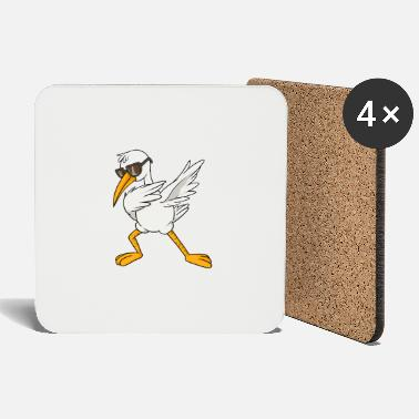 Step Dance Cool stork dab bird dance float dance step - Coasters