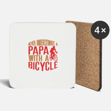 Active Mens Never Underestimate A Papa With A Bicycle - Coasters