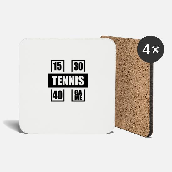 Tennis Match Mugs & Drinkware - Tennis tennis player tennis ball tennis fan gift - Coasters white