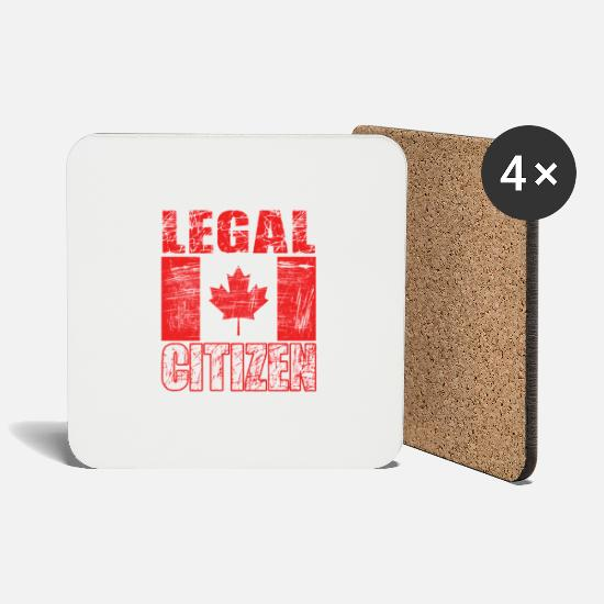 "Official Mugs & Drinkware - ""Legal Citizen"" tee made for proud citizen and - Coasters white"