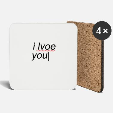 Text I love you funny mistake - Coasters
