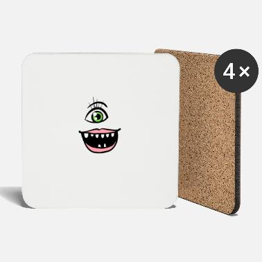 Zombie Halloween Funny Monster Face - Coasters