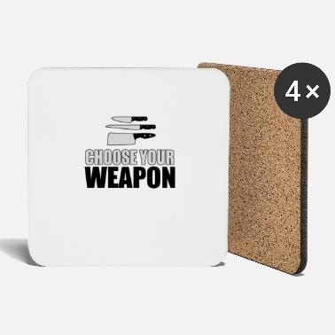 Culinary Art Culinary Arts Chef - Choose Your Weapon - Coasters