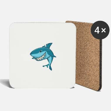 Friend Weekend Seal Shark Funny Food Sea Gift - Coasters