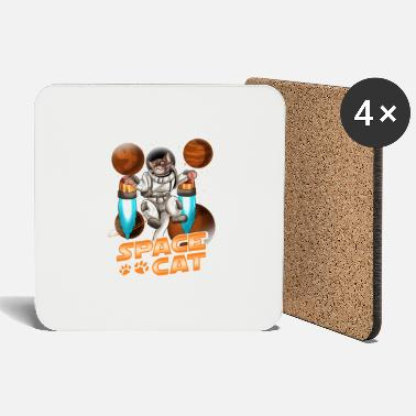 Spacecat Cute Space Cat Adorable Kitty Astronaut - Coasters