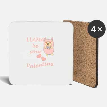 Let Lama be your Valentine - Coasters
