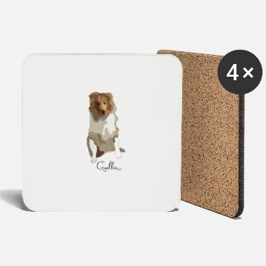 Long-haired Long-haired Herd Dog Collie rough long hair collie - Coasters