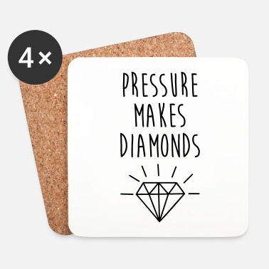 Inspiration Pressure Makes Diamonds Quote - Underlägg (4-pack)