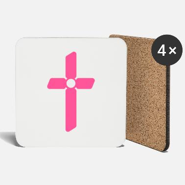 Cross Christianity Cross christianity religion church - Coasters