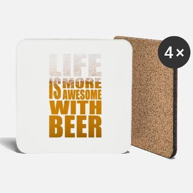 Bar Life is more awesome with beer Party Tshirt - Coasters