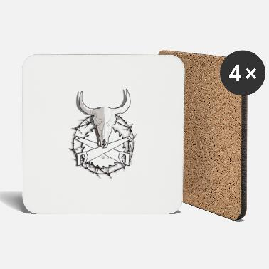 Cow Skull Trynka Cow Skull and Saws - Coasters