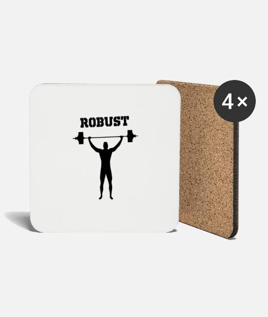 Weights Mugs & Drinkware - robust - Coasters white