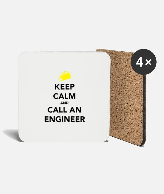 Calm Mugs & Drinkware - Keep Calm Engineer - Coasters white