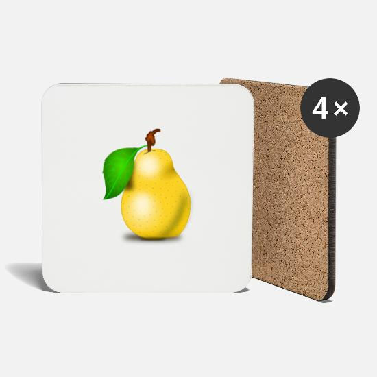 Pear Mugs & Drinkware - pear - Coasters white