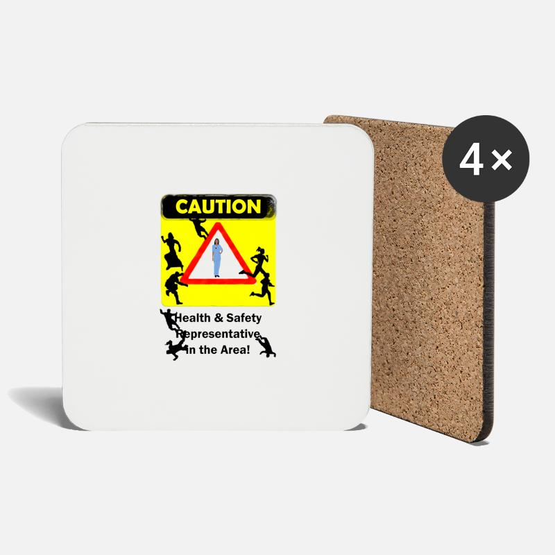 Safety Mugs & Drinkware - Avoid Health Safety - Coasters white