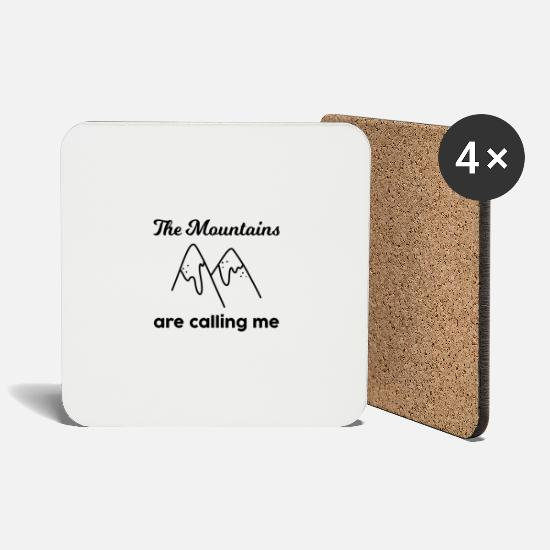 Ziel Mugs & Drinkware - Hiking Mountains Nature Backpack Adventure Gift - Coasters white