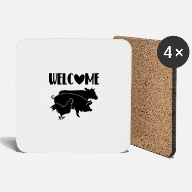 Milk WELCOME COOLES SHIRT FOR STOLZE LANDWIRTE BAUERN - Coasters