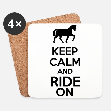 Galoppo Keep Calm And Ride On - Sottobicchieri (set da 4 pezzi)