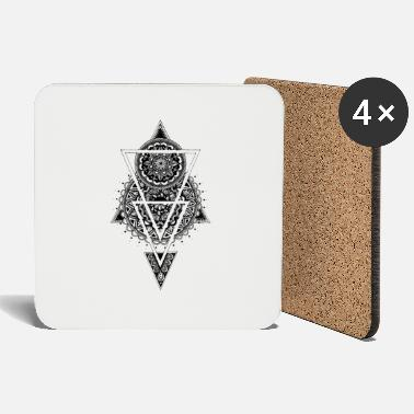Geometric pattern with triangles - meditative - Coasters