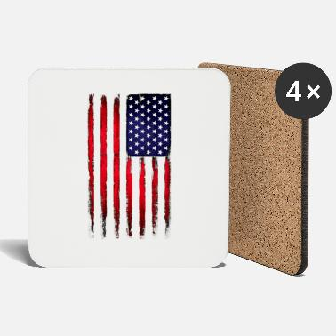 Style Vintage stars and stripes - Coasters