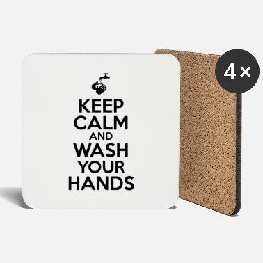 Water Keep Calm And Wash Your Hands - Coasters