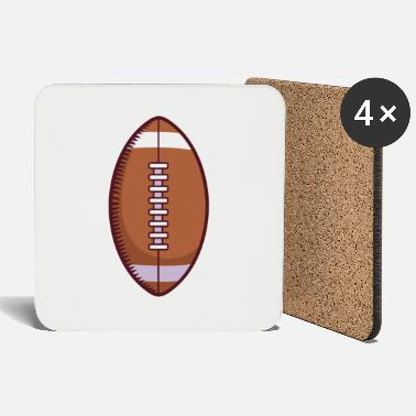 Helmet Football With White Laces - Coasters