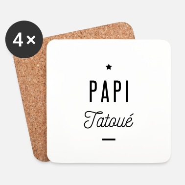 Tatoo papi tatoué - Dessous de verre (lot de 4)