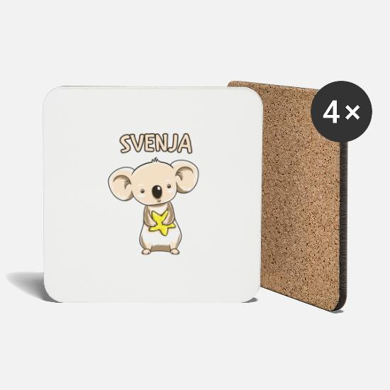 Birthday Mugs & Drinkware - Koala funny kid svenja gift birthday copy - Coasters white