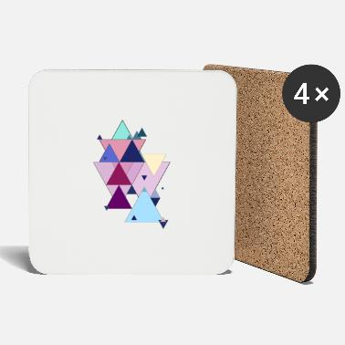 Pastel Pastel triangles - Coasters