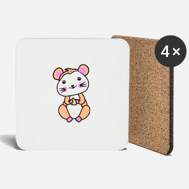 Mouse Hamster rodent fantasy children hunger - Coasters