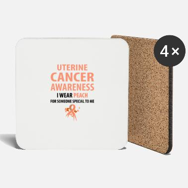 Endometrial Cancer Survivor I Wear Peach For Someone Special To Me - Coasters