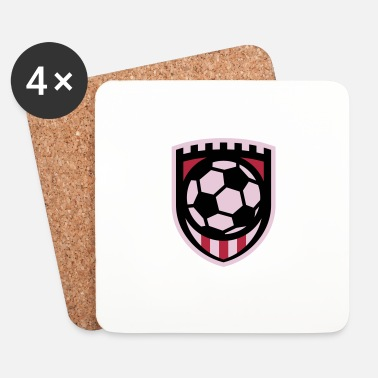Balonmano Minimal football logo / coat of arms / flag / badge - Posavasos (juego de 4)