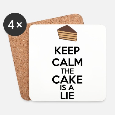 Keep Calm Keep Calm The Cake Is A Lie - Lasinalustat (4 kpl:n setti)