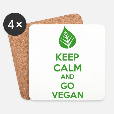 Keep Calm Keep Calm And Go Vegan - Lasinalustat (4 kpl:n setti)
