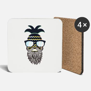 Glass Underwear Funny perfect hipster pineapple - Coasters