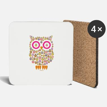 10-30 OWL FAMILY - PEARL FASHION clothing and gifts - Coasters