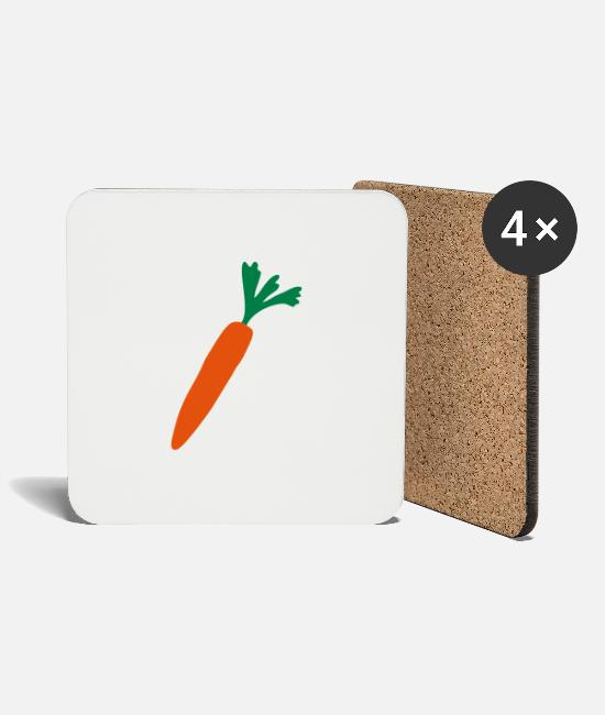 Bless You Mugs & Drinkware - carrot - Coasters white