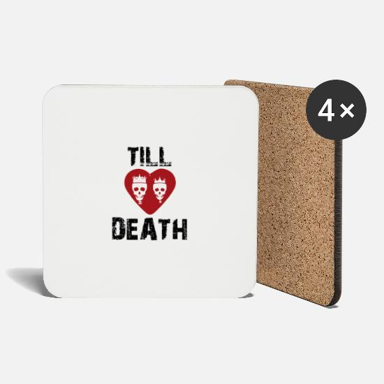 Love Mugs & Drinkware - Love to death - Coasters white